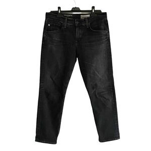 AG The Ex-Boyfriend Slim Slouchy Denim Jeans Black